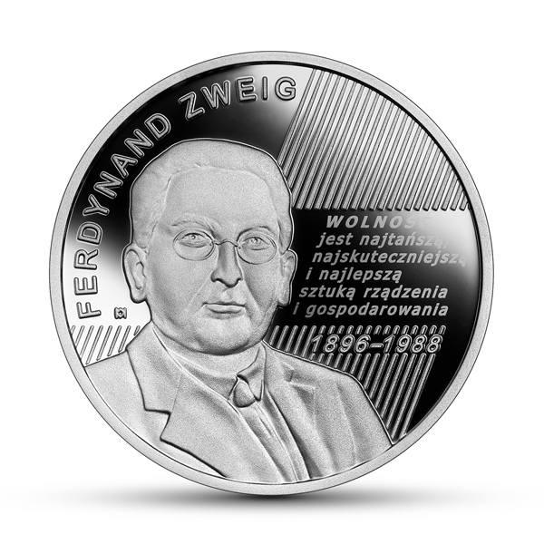 Ferdynand Zweig to jeden z najwybitniejszych przedstawicieli Krakowskiej Szkoły Ekonomii. I on został uhonorowany srebrną monetą o nominale 10 zł