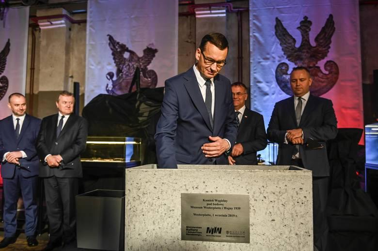 Premier Mateusz Morawiecki dokonał wmurowania kamienia węgielnego pod Muzeum Westerplatte i Wojny 1939