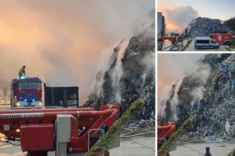 Studzianki. Kolejny pożar w sortowni śmieci koło Białegostoku [ZDJĘCIA]