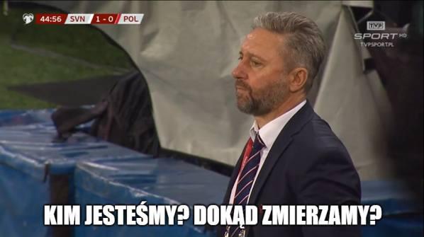 Polacy przegrali w Słowenii 0:2 i pozostawili po sobie bardzo złe wrażenie. Pierwsza porażka w eliminacjach to jednocześnie pożywka dla autorów memów,
