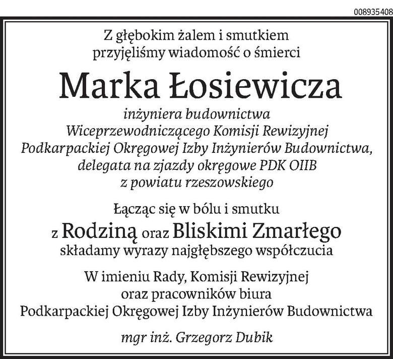 Nekrologi i kondolencje z dnia 4 marca 2019 roku