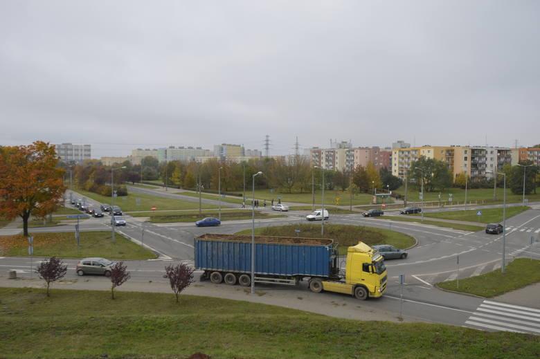 Rondo Gdańskie. Tu miała zaczynać się obwodnica północna.