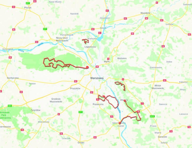 Ciekawe trasy dla początkujących i średniozaawansowanych rowerzystów nie dalej niż godzinę drogi od centrum miasta. Zobaczcie, gdzie warto wybrać się