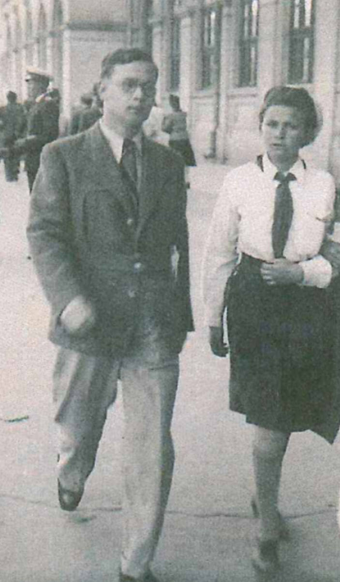1940 r.  Konstanty Bączkowski w Rumunii, gdzie był internowany