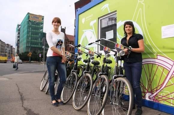 Wypożyczalnia rowerów w Katowicach.
