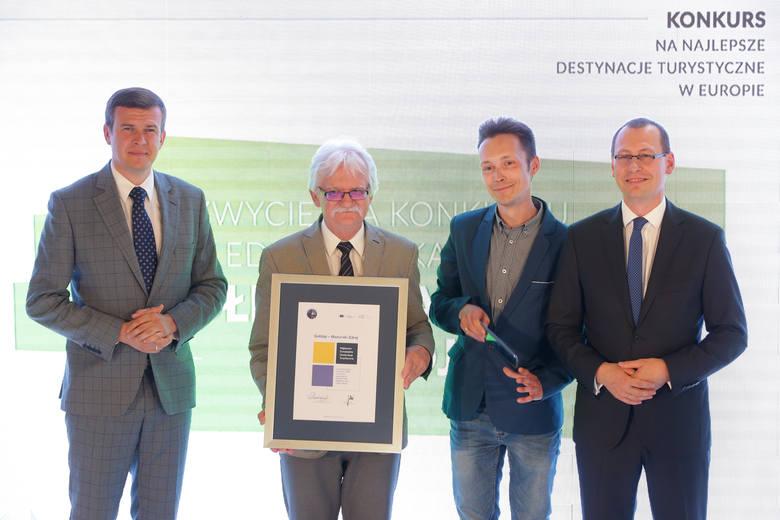 Gołdap Mazurski Zdrój zwyciężył w konkursie EDEN. Nagrodę wręczył minister Witold Bańka [ZDJĘCIA]