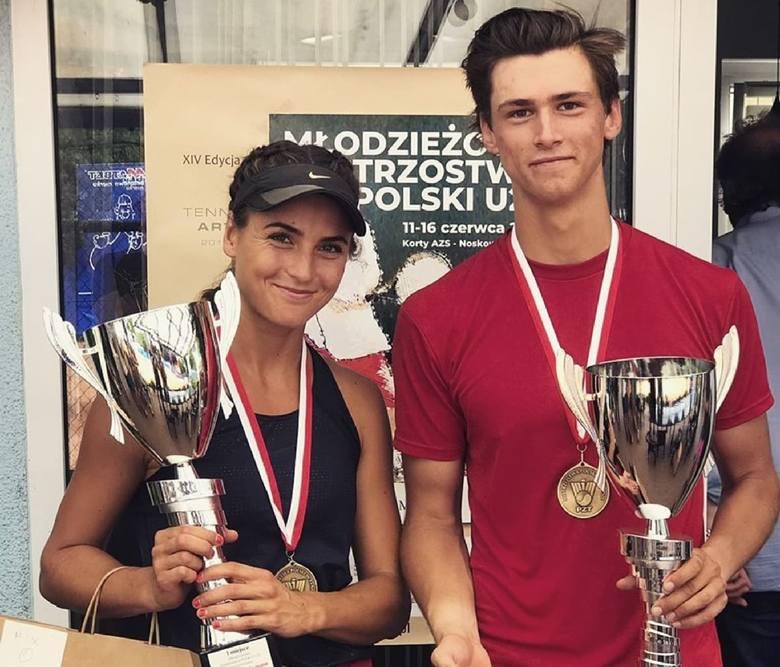 Aleksandra Buczyńska wywalczyła mistrzostwo Polski w mikście, grając z Janem Gałką z Warszawianki
