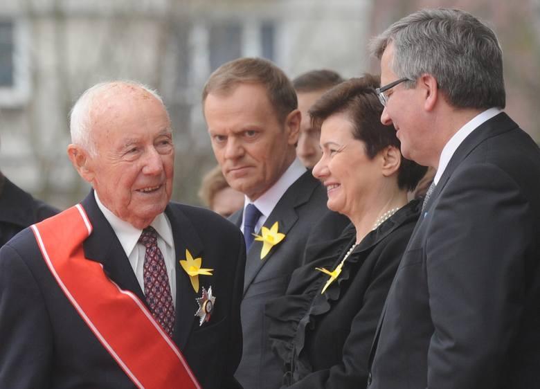 Symcha Rotem, Donald Tusk, Hanna Gronkiewicz-Waltz i Bronisław Komorowski