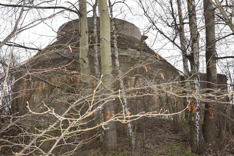 Poniemiecka oczyszczalnia ścieków przy ul. Foluszowej, zbudowana w 1934 roku - Zielona Góra - 15 marca 2020 roku