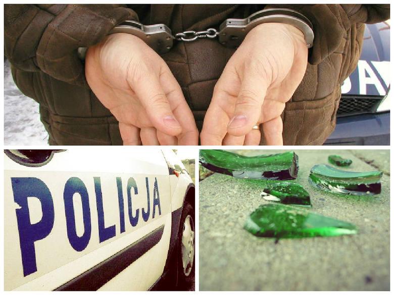 Mężczyzna potłuczoną butelką zaatakował kobietę i pociął jej twarz