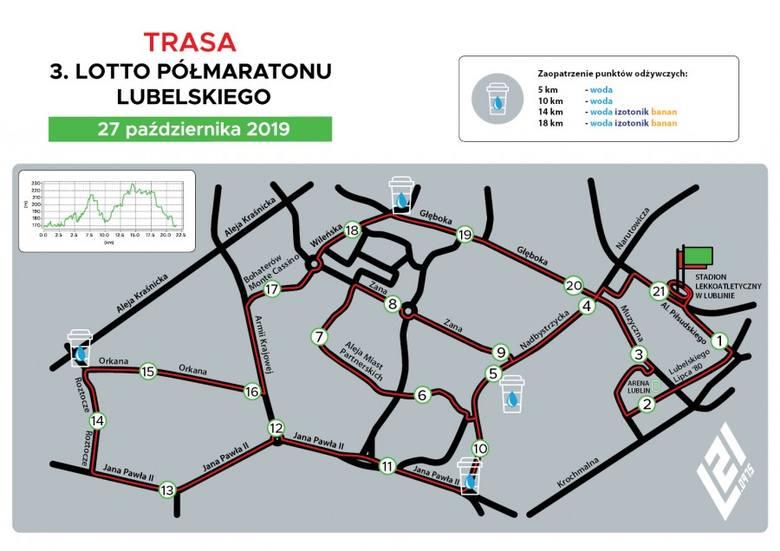 Półmaraton Lubelski 2019. Sprawdź trasę biegu. Uwaga, kierowcy! Będą utrudnienia