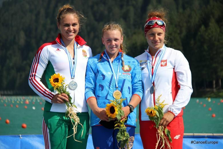 Julia Olszewska z brązowymi medalami mistrzostw Europy w Auronzo