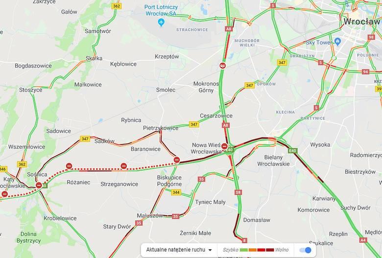 Poważne wypadki na A4 pod Wrocławiem. 17 kilometrów korka! (ZDJĘCIA)