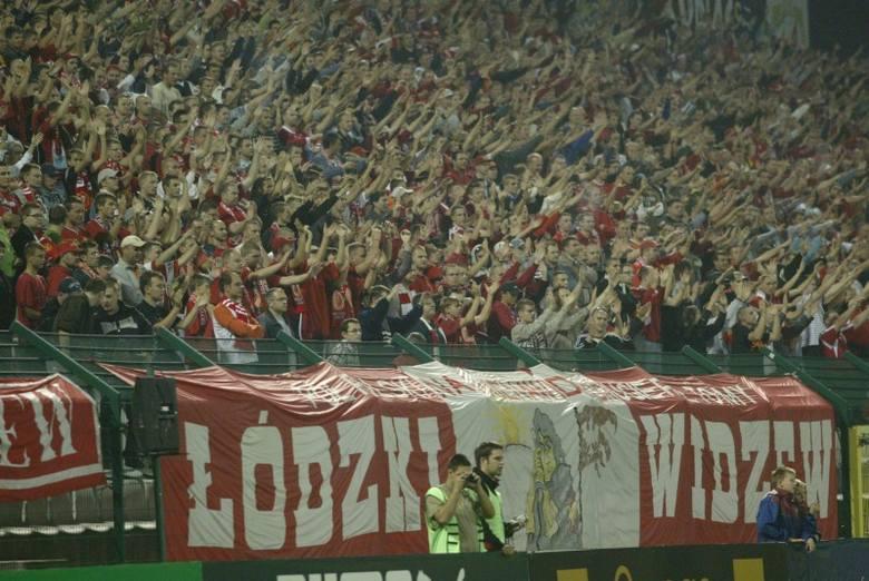 Kibice Widzewa, kibice ŁKS - archiwalne zdjęcia fanów łódzkich drużyn