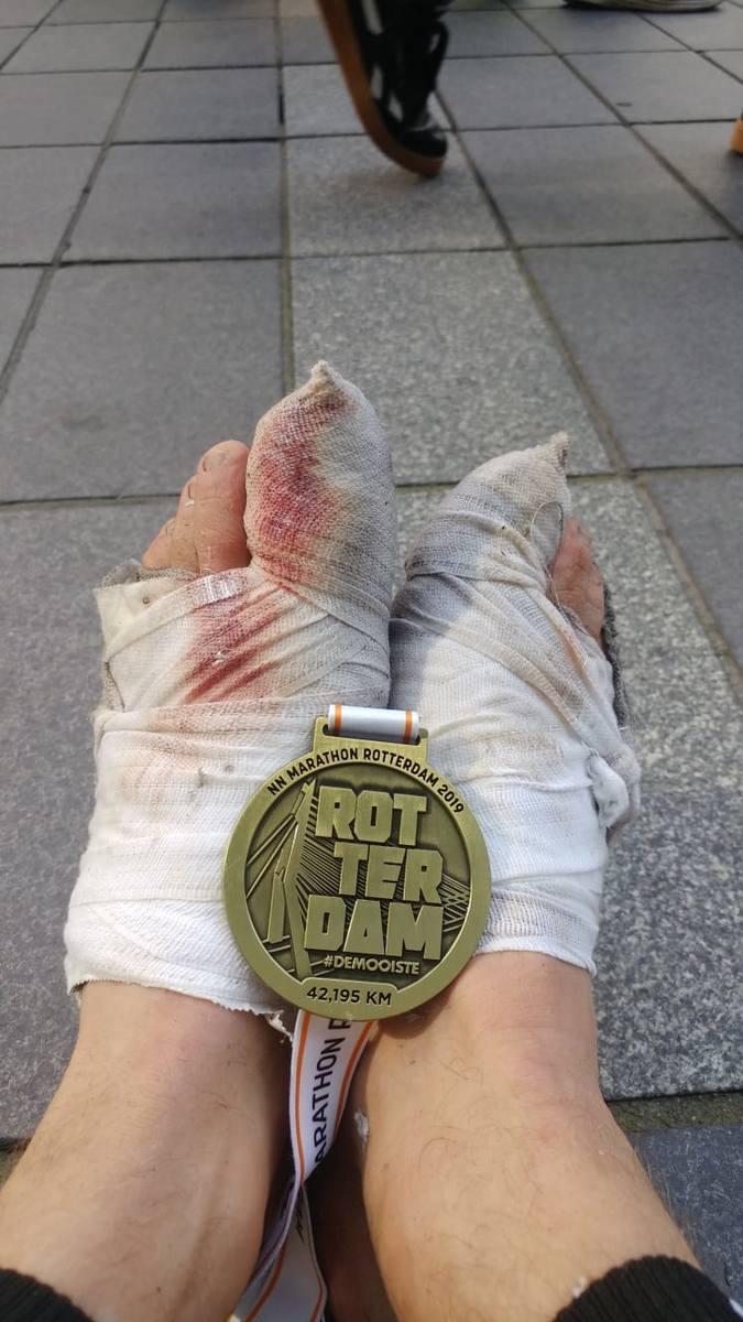 Mateusz Lipa z Rzeszowa zrzucił 50 kg, aby pobiec w nowojorskim maratonie. Udało się! [ZDJĘCIA]