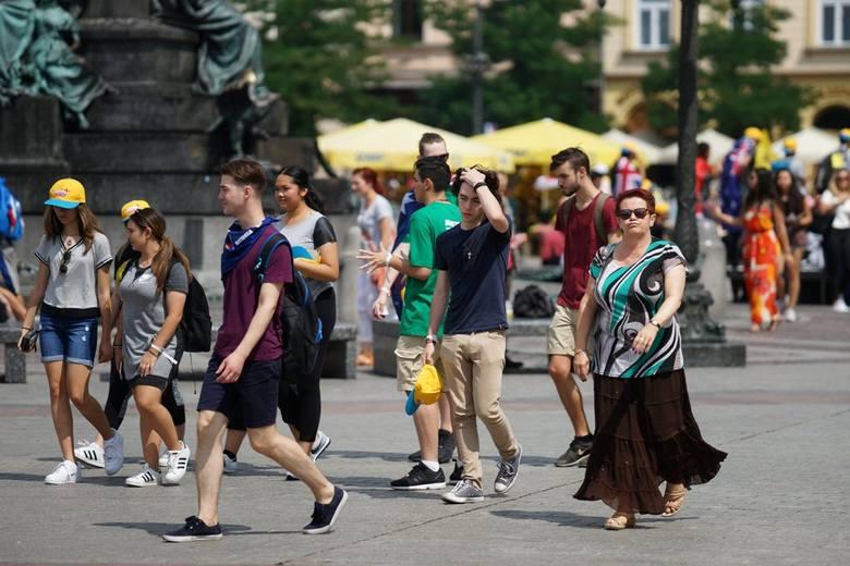ŚDM 2016. Coraz więcej pielgrzymów w Krakowie [ZDJĘCIA]