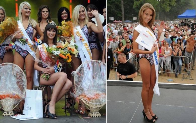 Na zdjęciu po lewej najpiękniejsze z najpiękniejszych tegorocznych plażowiczek. W środku Miss Miedwia 2009, Paulina Cieślik, z lewej z szarfą stoi I