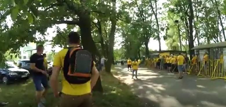 Zadyma przed meczem GKS Katowice - Odra Opole