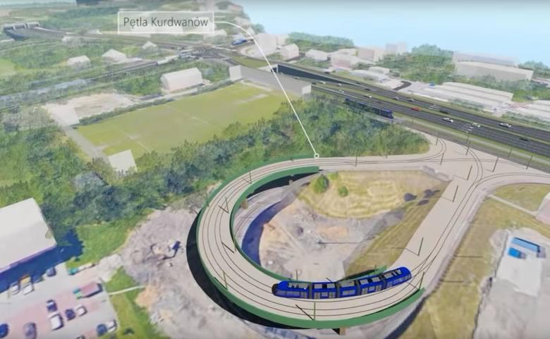 Trasa Łagiewnicka będzie zaczynać się w okolicy pętli tramwajowej na Kurdwanowie