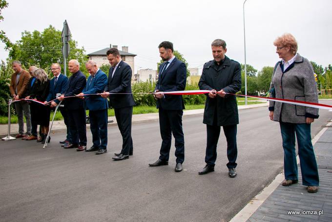 Otwarcie po przebudowie  ulicy Dmowskiego w Łomży