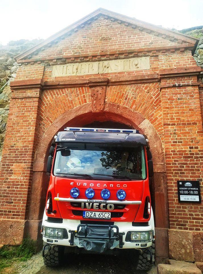 Tak gaszono pożar w twierdzy. Srebrna Góra już otwarta (ZDJĘCIA)