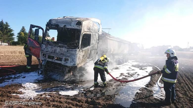 Zestaw spłonął doszczętnie. Na szczęście w pożarze nikt nie zginął.