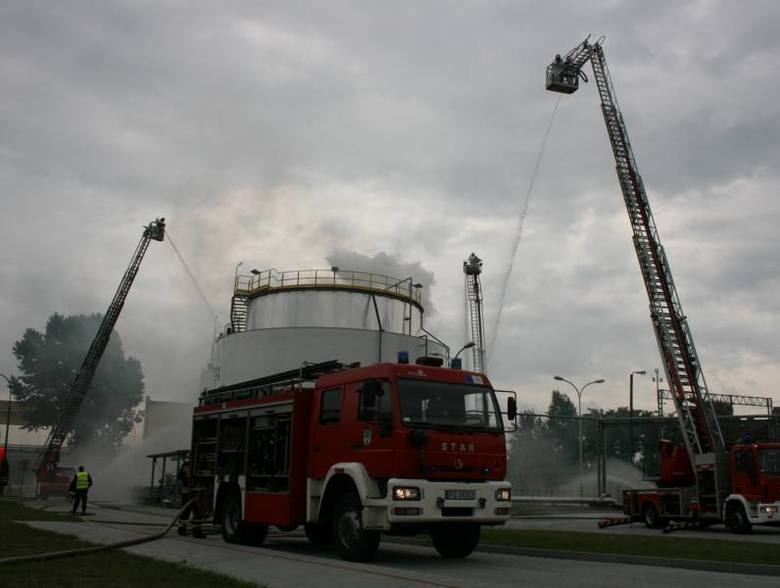 Strażacy ćwiczyli na terenie zielonogórskiej Elektrociepłowni