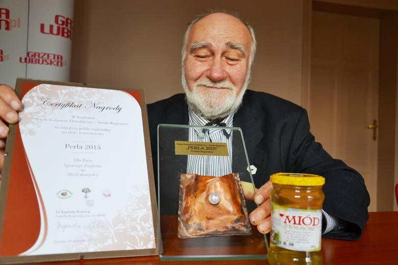 Miód akacjowy Ignacego Żeglenia z Przylepu otrzymał Kulinarną Perłę 2015.