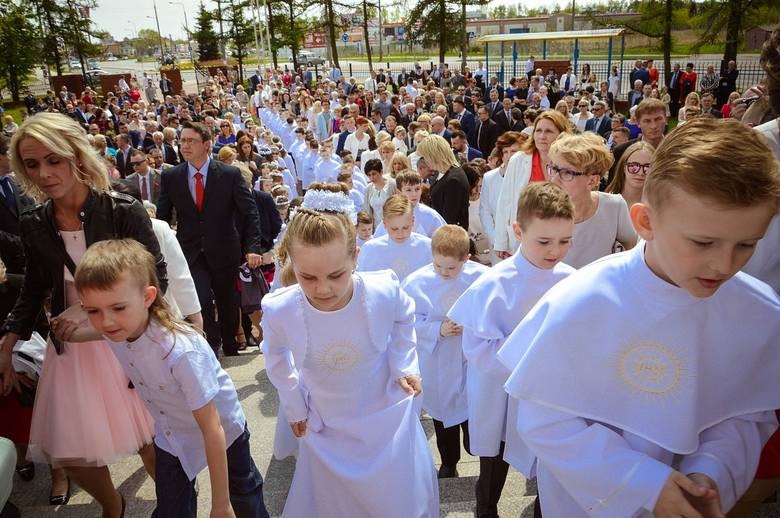 Komunia 2017 w Skierniewicach: kościół Najświętszego Serca Pana Jezusa [ZDJĘCIA]