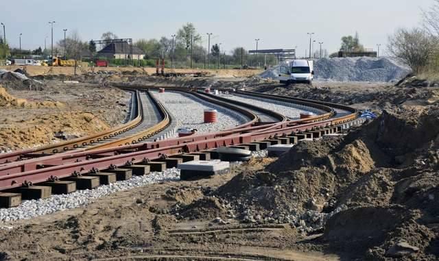 Przy węźle Bydgoszcz Wschód prawie gotowa jest już nowa pętla tramwajowa. Stara będzie używana tylko w sytuacjach awaryjnych