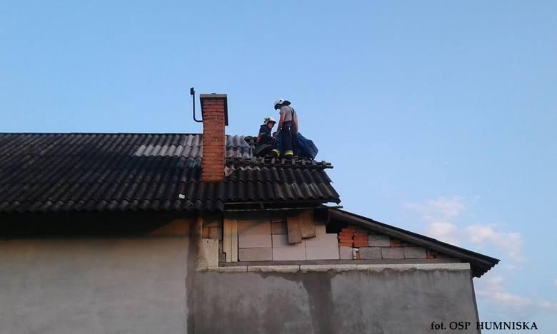 Nad Podkarpaciem wczoraj (20 lipca) przeszły gwałtowne burze. Strażacy usuwali skutki nawałnicy m.in. w  miejscowościach: Jasienica Rosielna, Blizne,