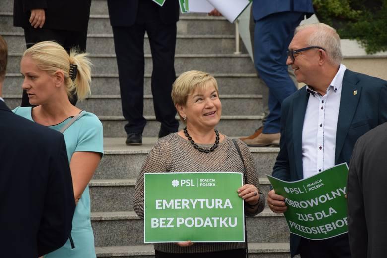 Konferencja prasowa kandydatów do Sejmu RP z listy Polskiego Stronnictwa Ludowego, 5 września 2019 r.