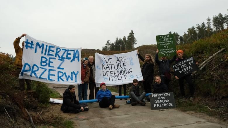 Protesty w sprawie przekopu Mierzei Wiślanej