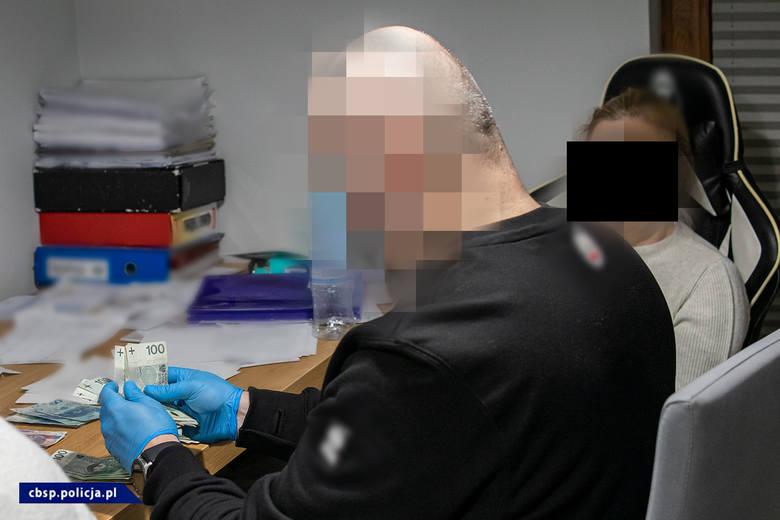 Policjanci z Zarządu w Łodzi Centralnego Biura Śledczego Policji, pod nadzorem Łódzkiego Wydziału Zamiejscowego Departamentu do spraw Przestępczości