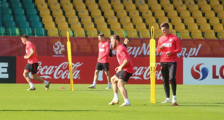 Trening reprezentacji Polski na stadionie GKS-u Katowice