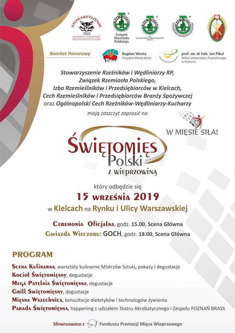 Świętomięs Polski z Wieprzowiną w Kielcach w niedzielę, 15 września. Będą degustacje