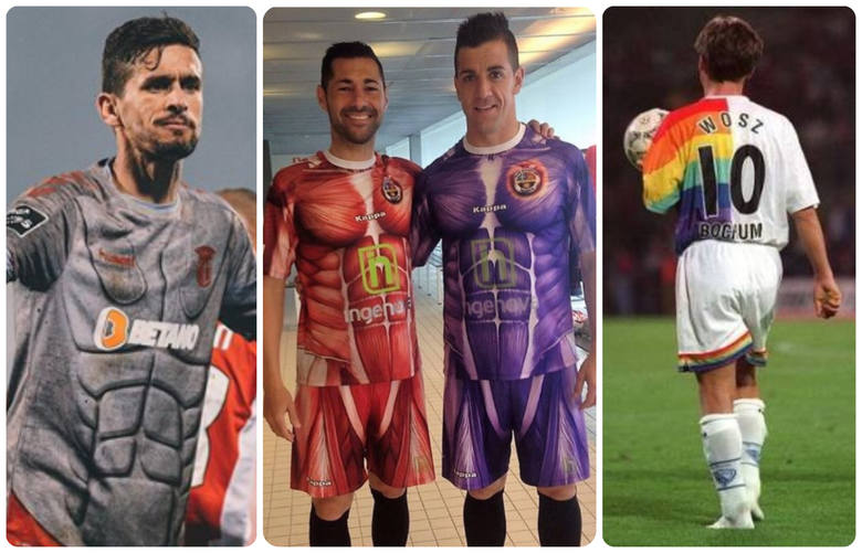 Projektanci koszulek piłkarskich lubią się wyróżniać, ale czasem popadają w przesadę. Niektóre modele są chyba tworzone po to, by wzbudzić kontrowersje.