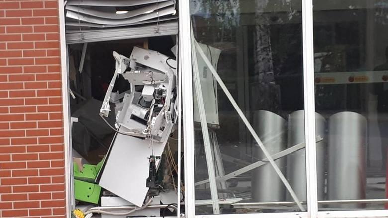 Nocny skok we Wschowie miał miejsce około godziny 2.00. - Nieznani sprawcy za pomocą materiałów pirotechnicznych dokonali kradzieży pieniędzy. Trwają
