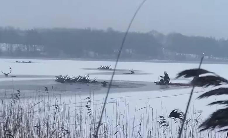 Akcja na jeziorze Ińsko, woj. zachodniopomorskie