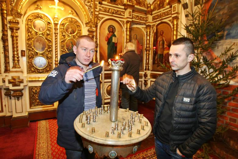 Ukraińcy mają też u nas życie kulturalne i religijne. Na zdjęciu: Jurij Kyrylenko i Wladek Sokolow
