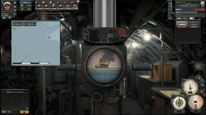 Silent Hunter OnlineSilent Hunter Online - widok przez peryskop to ulubiony widok każdego podwodniaka.
