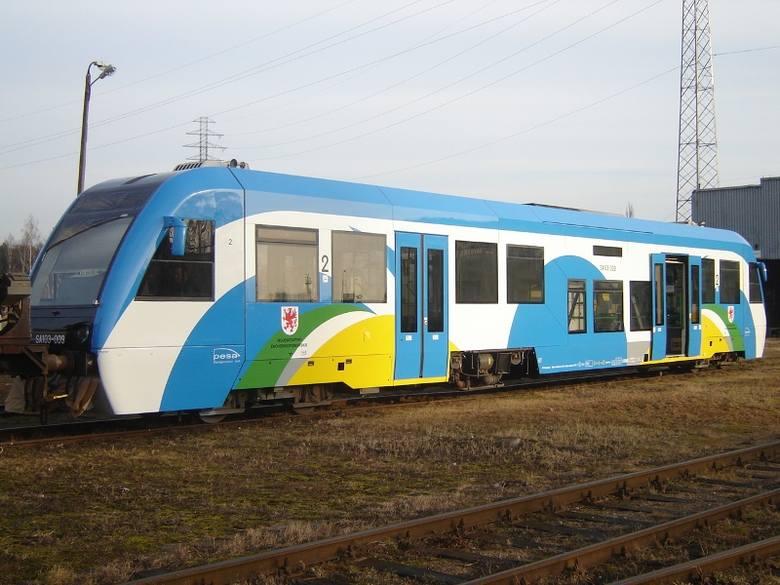 Szynobus po modernizacji w Bydgoszczy.