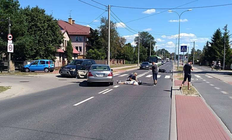 Mężczyzna trafił do szpitala. Ruch na 42 Pułku Piechoty w miejscu wypadku został wstrzymany