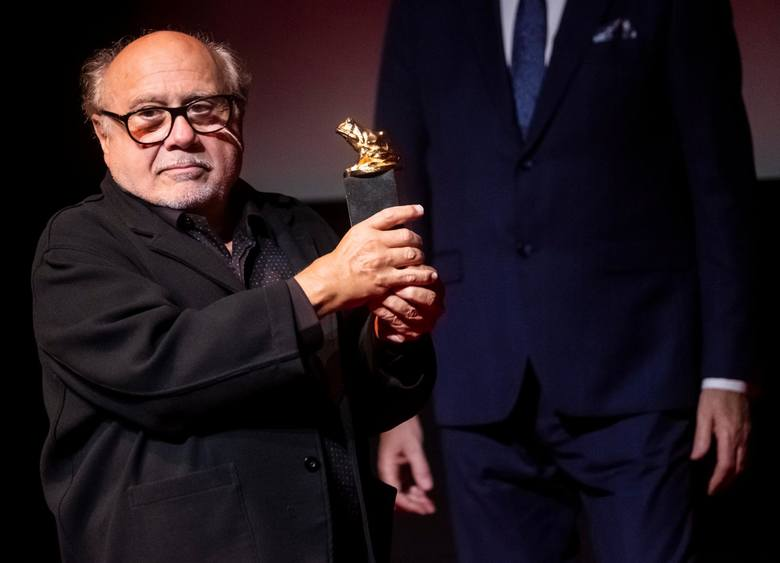 Danny DeVito na gali otwarcia EnergaCamerimage odebrał statuetkę dla aktora za całokształt twórczości