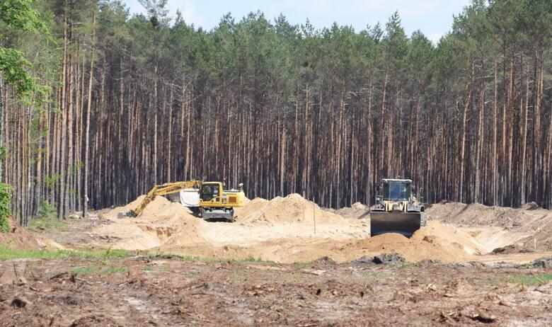 Teren budowy południowej obwodnicy Zielonej Góry