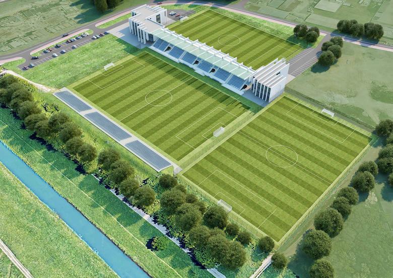 Garbarnia Kraków. Wkrótce ruszy budowa nowej trybuny. Główne boisko zostanie przesunięte w jej stronę [WIZUALIZACJE i ZDJĘCIA]