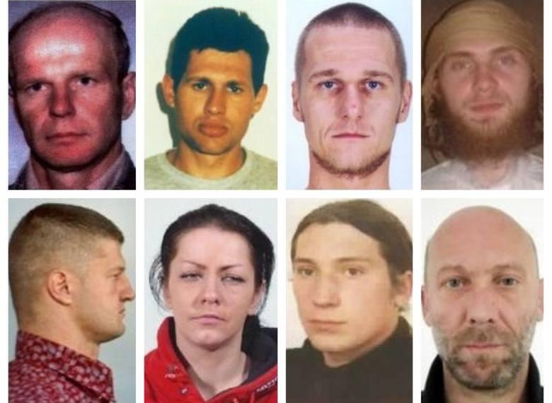To niektóre z poszukiwanych osób, które znajdują się aktualnie na liście Interpolu za groźne przestępstwa (aktualizacja 27 czerwca 2018). Polskie sądy