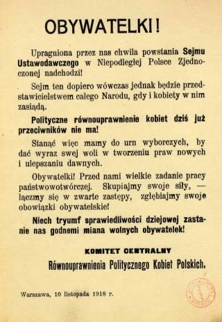 Osiem wspaniałych. Kim były pierwsze polskie posłanki?