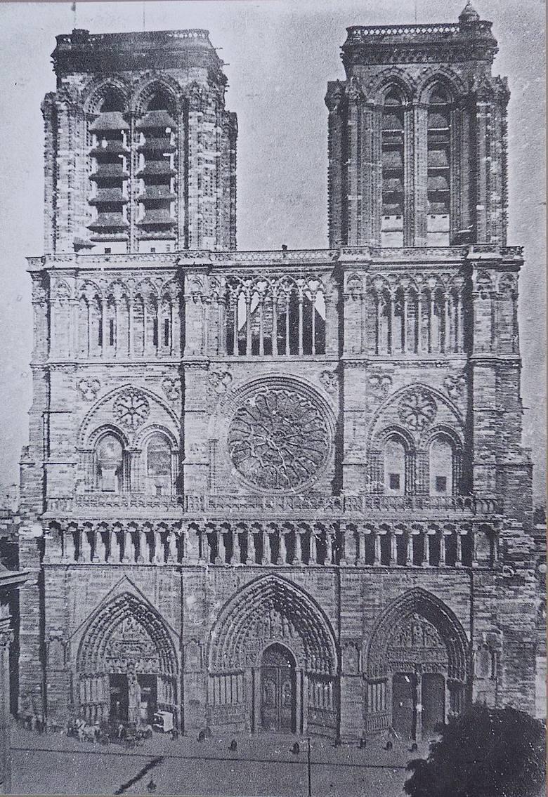 Katedra Notre Dame przed przebudową (1841 r.)