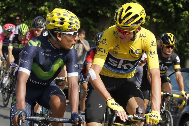 Chris Froome i Nairo Quintana podczas tegorocznego Tour de France.